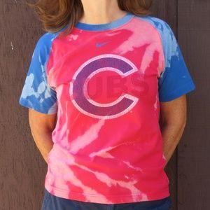 Nike Chicago Cubs Custom Bleach Tee sz M